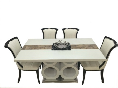 Well Liked Lucky 88 1+6 Marble Dining Table Sets – Woodys Furnitures, Mumbai With Marble Dining Tables Sets (View 20 of 20)