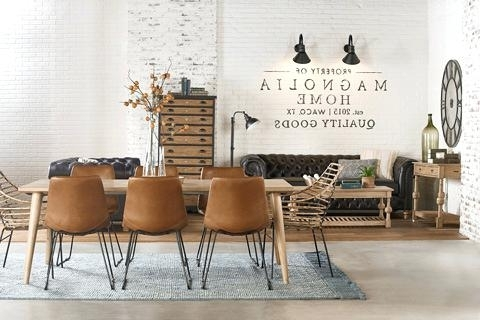 Well Liked Magnolia Home Sawbuck Dining Tables Within Dining Room Magnolia Home Table Keyed Trestle – Battenhall (View 12 of 20)