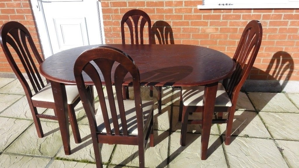 Well Liked Mahogany Dining Table & 4 Chairs (View 20 of 20)