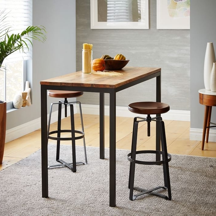 Well Liked Mango Wood/iron Dining Tables Within Box Frame Counter Table – Wood (View 17 of 20)