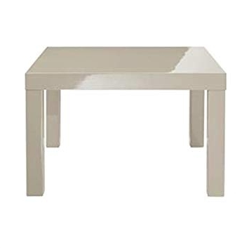 Well Liked Modern Minimalistic High Gloss Lacquered Stone Grey Dining Table Pertaining To Cream Lacquer Dining Tables (View 19 of 20)