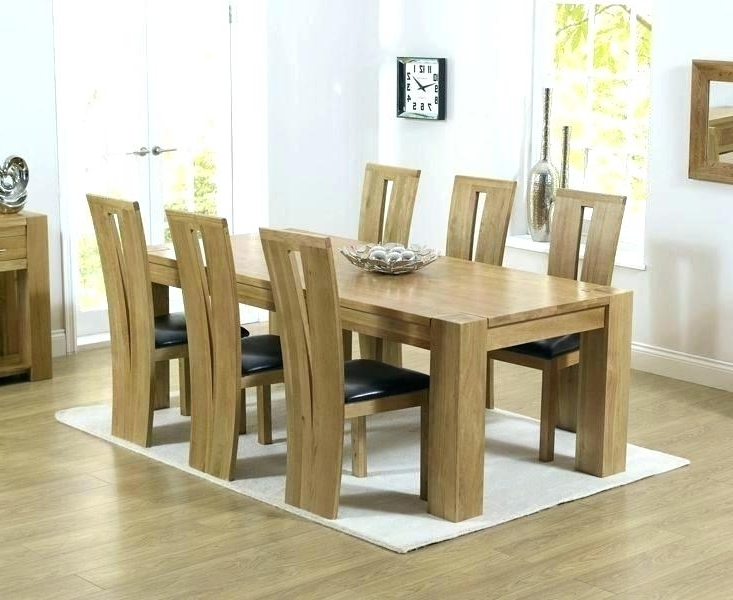 Well Liked Oak Extending Dining Tables And 6 Chairs Within Decoration: 6 Chair Dining Set Chairs Room Table And Oak Extending (View 20 of 20)