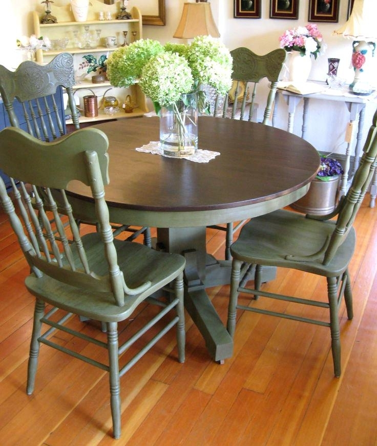 Well Liked Painted Dining Tables Pertaining To Charming Top Dining Room Sets Cute Table Base Painted Kitchen Tables (View 20 of 20)