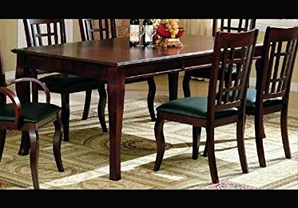 Well Liked Parquet 7 Piece Dining Sets Pertaining To Amazon – Coaster Contemporary Dining Table With A Rich Cherry (View 14 of 20)