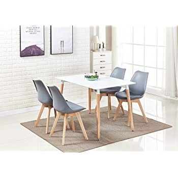 Well Liked P&n Homewares® Lorenzo Dining Table And 4 Chairs Set Retro And In White Dining Tables And Chairs (View 17 of 20)
