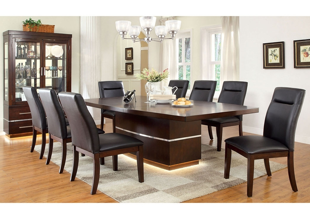 Well Liked Price's Home Furnishings Lawrence Dark Cherry Extension Dining Table Pertaining To Jaxon 5 Piece Extension Round Dining Sets With Wood Chairs (View 19 of 20)