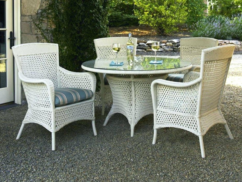 Well Liked Rattan Dining Tables And Chairs Regarding Black Rattan Dining Chairs Black Wicker Dining Room Chairs (View 15 of 20)