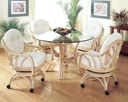 Well Liked Rattan Dining Tables And Chairs Regarding Rattan Dining Room Table And Chairs Set Wicker White Cottage Cot (View 8 of 20)