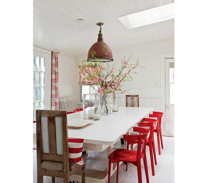 Well Liked Red Dining Chairs Pertaining To 10 Easy Pieces: Red Dining Chairs (View 19 of 20)