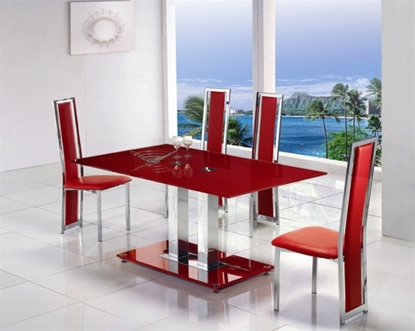 Well Liked Red Dining Table Sets Throughout Dining Tables: Amusing Red Dining Table Red Table And Chairs, Red (View 19 of 20)