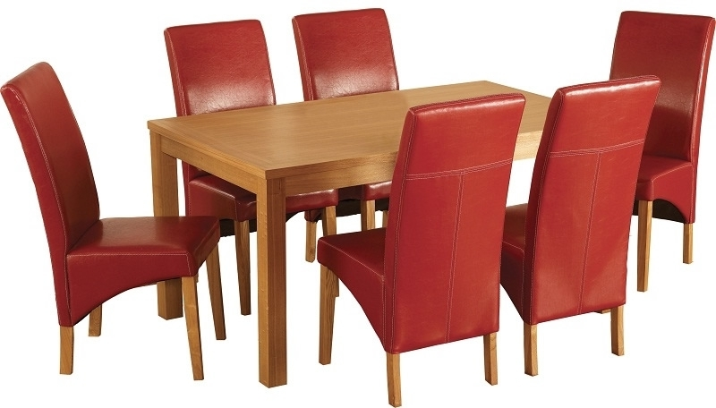 Well Liked Red Dining Tables And Chairs Regarding Belgravia Dining Set – Oak Dining Table With Six Red Chairs From (View 17 of 20)
