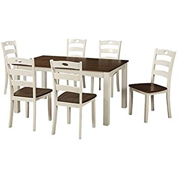Well Liked Rocco 7 Piece Extension Dining Sets With Regard To Amazon – 7 Piece Dining Set In Rich Cappuccino – Coaster – Table (View 19 of 20)