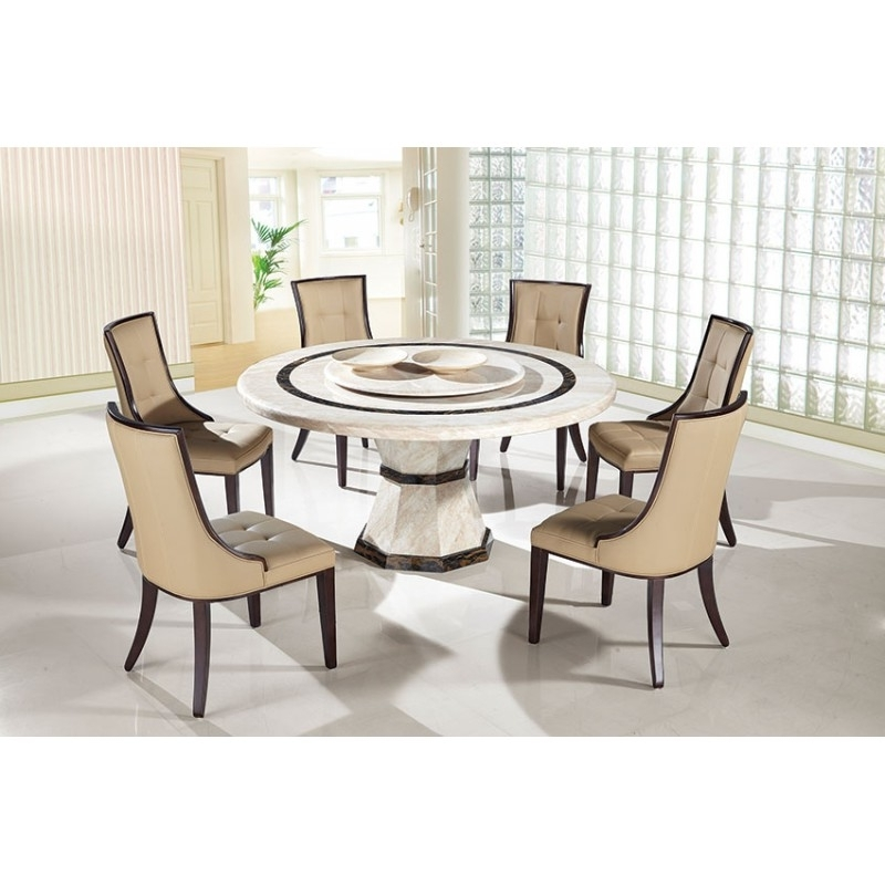 Well Liked Round Dinner Table Set – Castrophotos In Macie Round Dining Tables (View 10 of 20)