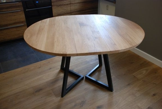 Well Liked Round Extendable Dining Tables Pertaining To Extendable Round Table Modern Design Steel And Timber (View 19 of 20)