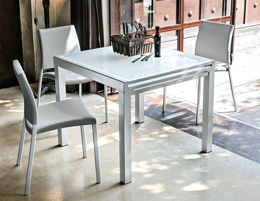 Well Liked Small Square Extending Dining Tables Throughout Square Extendable Table Metro Square Extending Table Square (View 20 of 20)