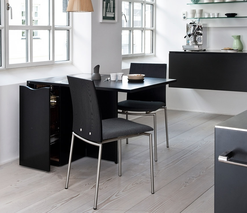 Well Liked Space Saving Compact Gateleg Table – Skovby A1101 – Wharfside In Compact Dining Room Sets (View 19 of 20)