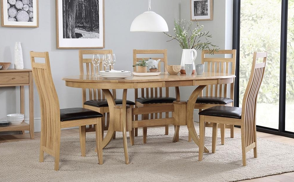 Well Liked Townhouse Oval Extending Dining Table And 6 Bali Chairs Set Only Intended For Oval Extending Dining Tables And Chairs (View 13 of 20)