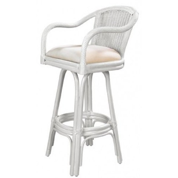 """Well Liked Valencia 5 Piece Counter Sets With Counterstool Within Shop Key West Indoor Swivel Rattan & Wicker 24"""" Counter Stool In (View 12 of 20)"""