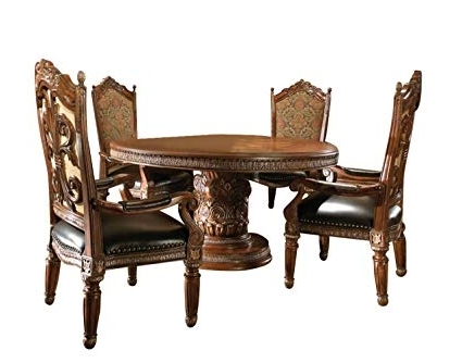 Well Liked Valencia 5 Piece Round Dining Sets With Uph Seat Side Chairs Regarding Amazon – Aico Villa Valencia Casual Dining Room Set With Dining (View 20 of 20)