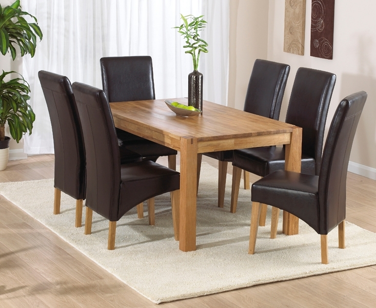 Well Liked Verona Dining Tables Inside Verona 150cm Solid Oak Extending Dining Table With Venezia Chairs (View 14 of 20)