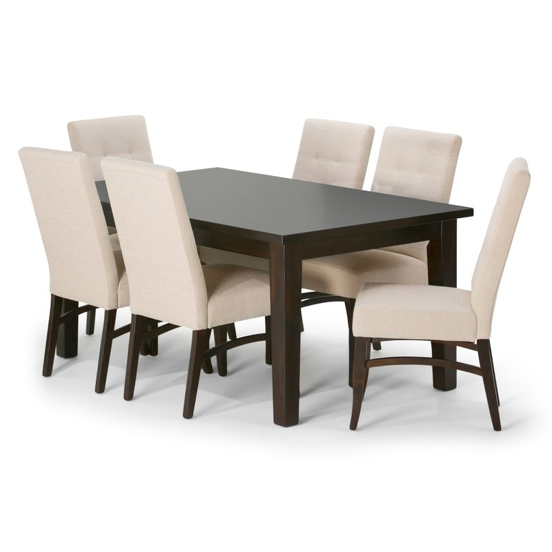 Well Liked Walden 7 Piece Extension Dining Sets In Simpli Home Ezra 7 Piece Dining Set (View 20 of 20)