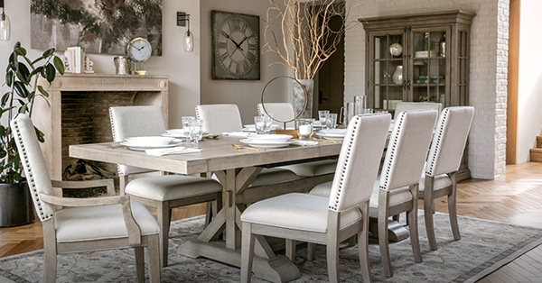Well Liked Walden Extension Dining Tables In Newport Estates: New Traditional Style – Living Spaces Email Archive (View 15 of 20)