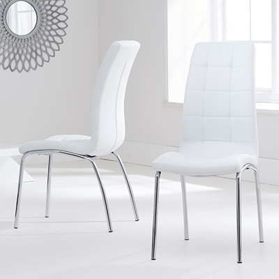 Well Liked White Dining Chairs In Calgary White Dining Chairs (Pair) – Robson Furniture (View 14 of 20)