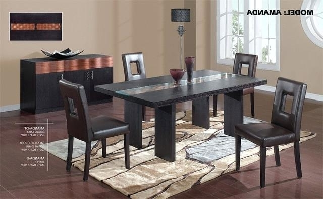 Well Liked Wooden Glass Dining Tables Regarding Cool Modern Glass Dining Table Set 9 Round Kitchen Wood Bases For (View 18 of 20)