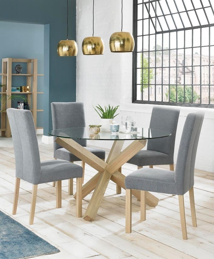 Wendycorsistaubcommunity With Most Current Oak Glass Top Dining Tables (View 20 of 20)