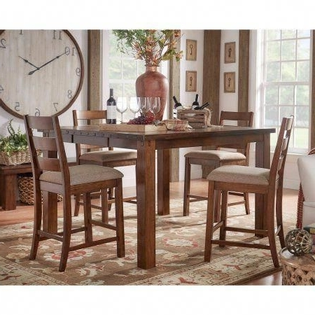 Weston Home Ronan Counter Height Rustic Chair, Set Of 2 – Walmart Pertaining To Most Popular Norwood 9 Piece Rectangular Extension Dining Sets With Uph Side Chairs (View 19 of 20)