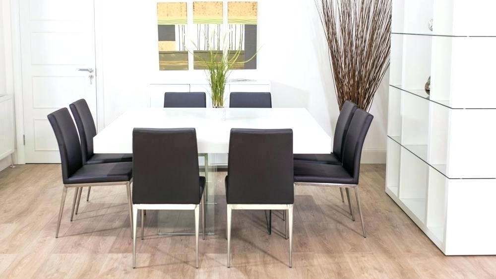 White 8 Seater Dining Tables In Fashionable Modern Dining Table For 8 Large Square White Oak Dining Table Trendy (View 20 of 20)
