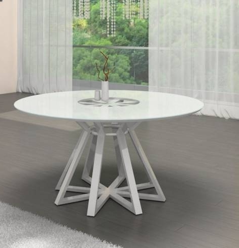 White Circle Dining Tables With Regard To Recent White Round Dining Table Elegant 7 White Round Modern Dining Tables (View 18 of 20)