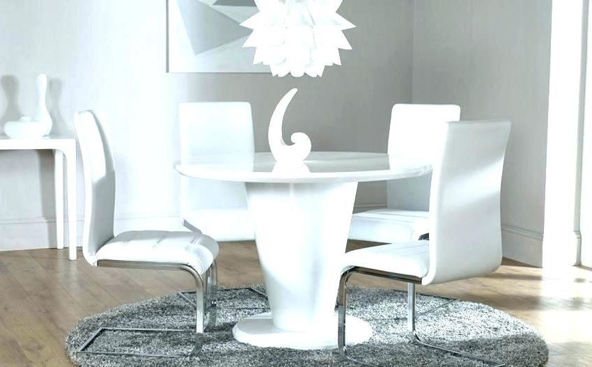 White Circular Dining Tables With Current White Round Table White Round Dining Table Cool White Round Modern (View 20 of 20)