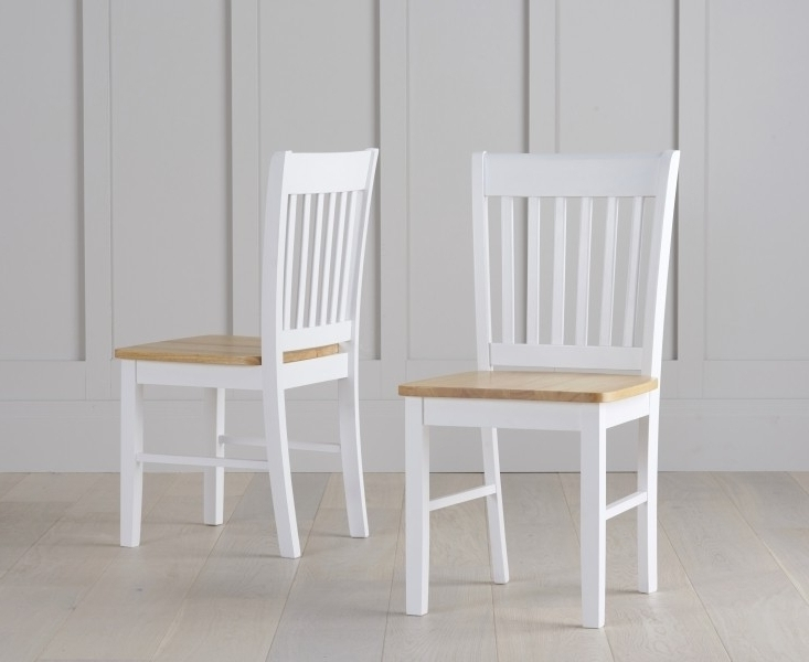 White Dining Chairs Inside 2018 Buy Asti Oak And White Dining Chairs (Pair) The Furn Shop (View 15 of 20)
