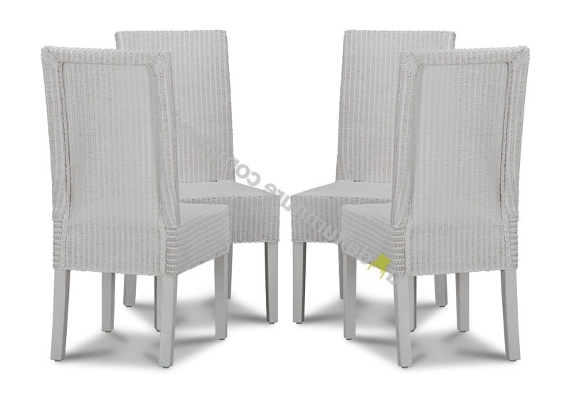 White Dining Chairs With Regard To Most Recently Released Lloyd Loom White Dynamo Dining Chairs X4 Lloyd Loom White Dynamo (View 18 of 20)