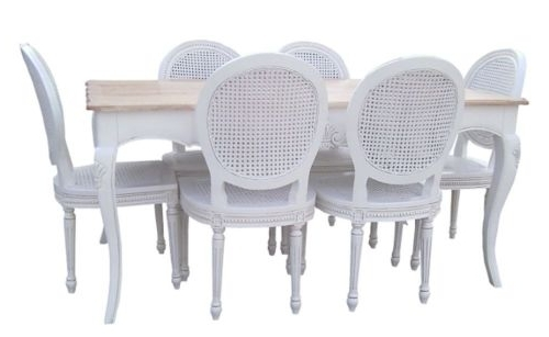 White Dining Tables And 6 Chairs Intended For Favorite Dining Table And 6 Chairs (View 20 of 20)