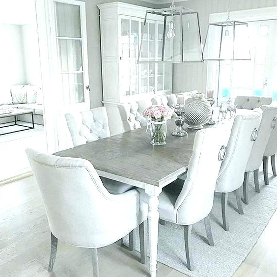 White Dining Tables Sets For Famous Dining Room Table And Chairs White Grey White Dining Room White (View 17 of 20)