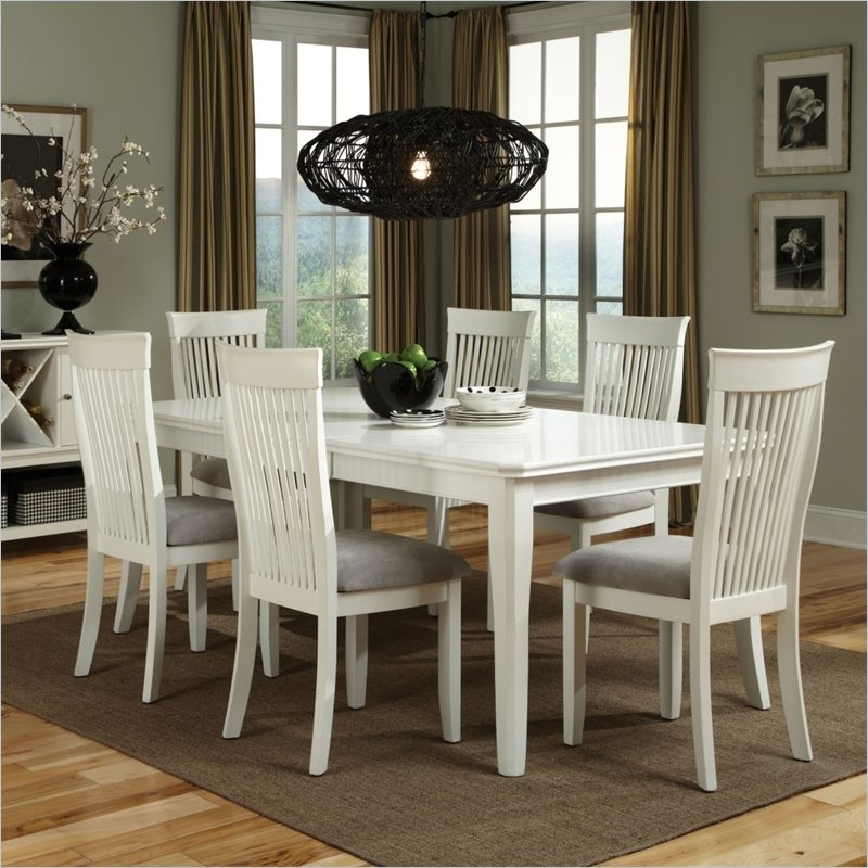 White Dining Tables Sets Regarding Latest Wooden White Dining Room Sets : Fantastic White Dining Room Sets (View 19 of 20)