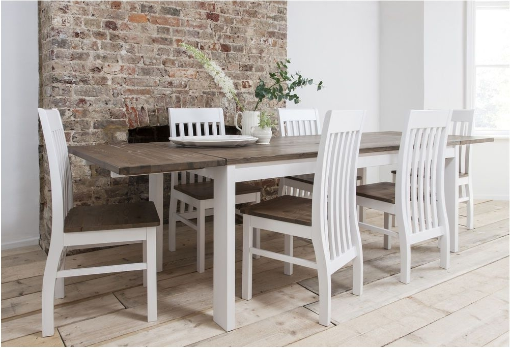 White Extending Dining Tables And Chairs For Famous Amazing Aver Grey White Extending Dining Table And Chairs – White (View 16 of 20)