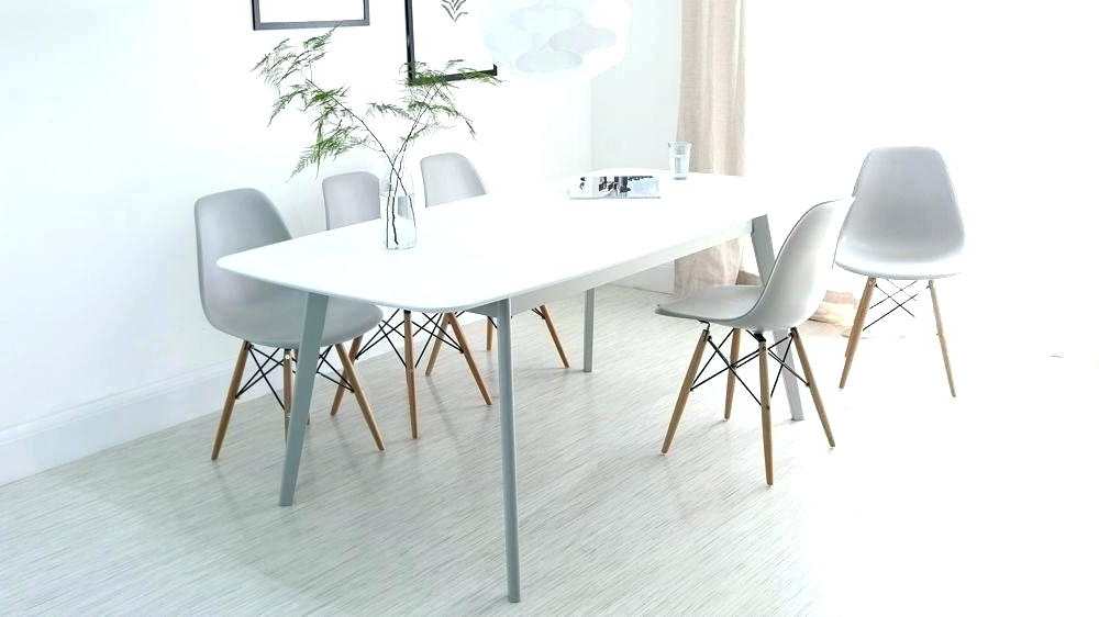 White Extending Dining Tables And Chairs Throughout Fashionable Narrow White Dining Table – Loyly (View 19 of 20)