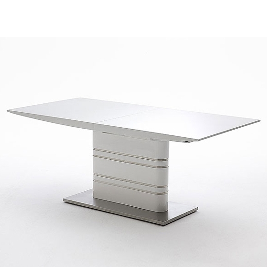 White Extending Dining Tables Intended For Well Known Modus Extending White Gloss Dining Table 19540 Furniture In (View 16 of 20)