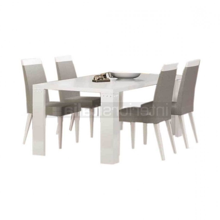 White Gloss Dining Chairs Throughout Widely Used White Gloss Dining Set (View 17 of 20)
