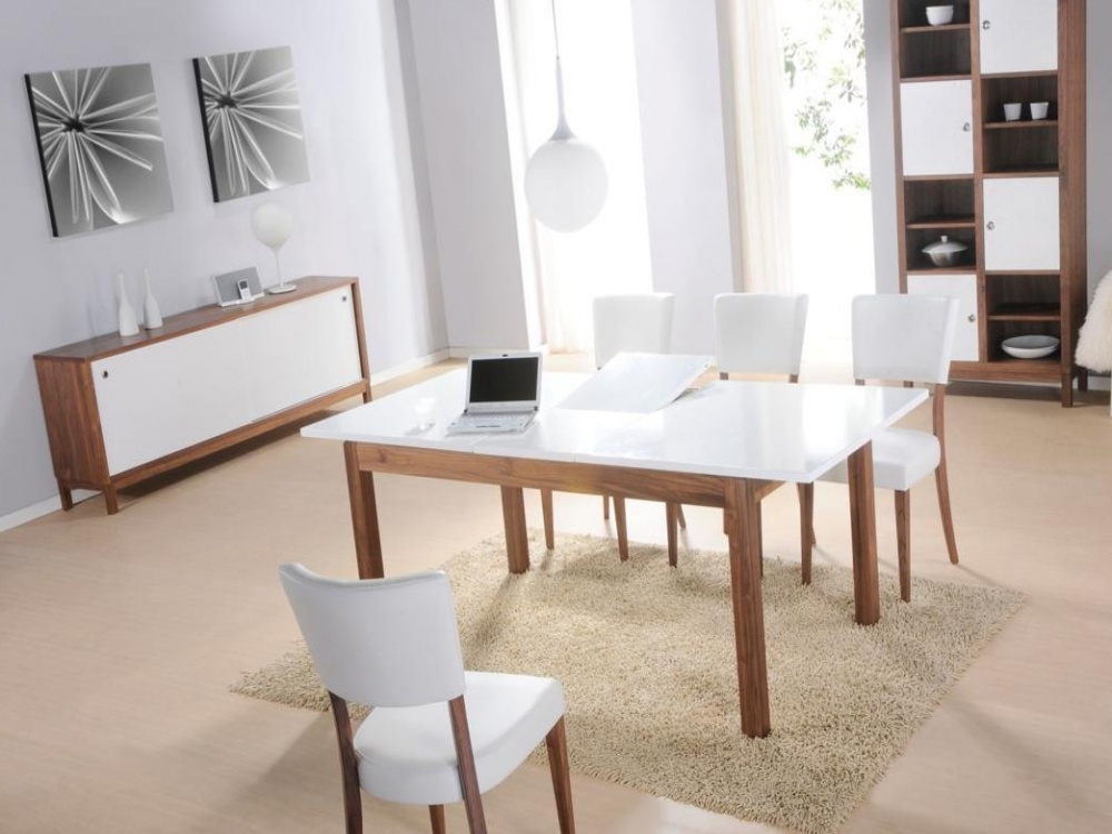 White Gloss Dining Table And Chairs Seat Cushions For Dining Room Chairs Throughout Popular White Dining Tables (View 20 of 20)