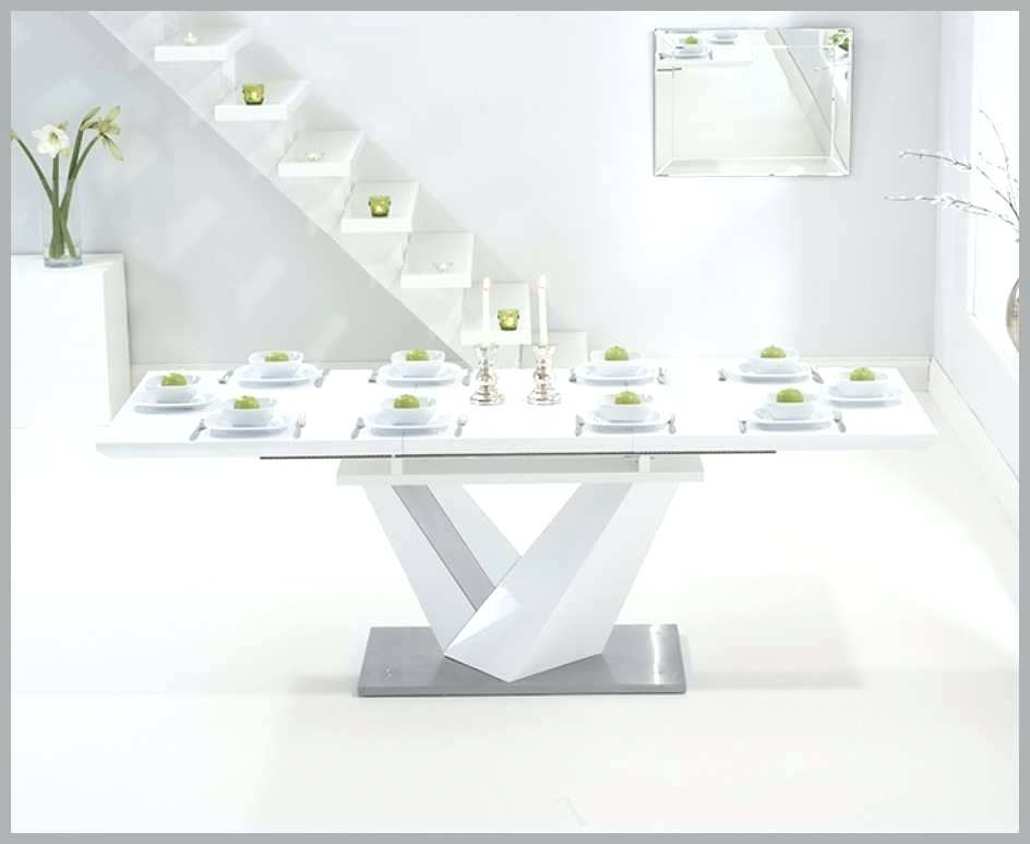 White Gloss Dining Table Extending White Gloss Extending Dining With Famous White Gloss Dining Tables 140Cm (View 16 of 20)