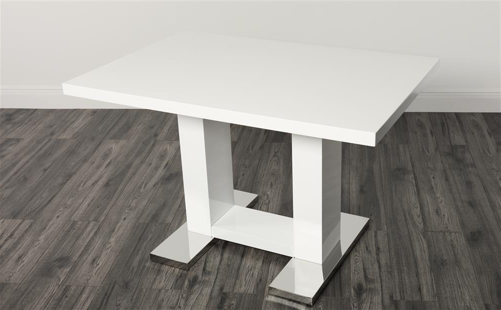 White Gloss Dining Tables 120Cm In Newest Joule White High Gloss Dining Table 120Cm Only £ (View 11 of 20)