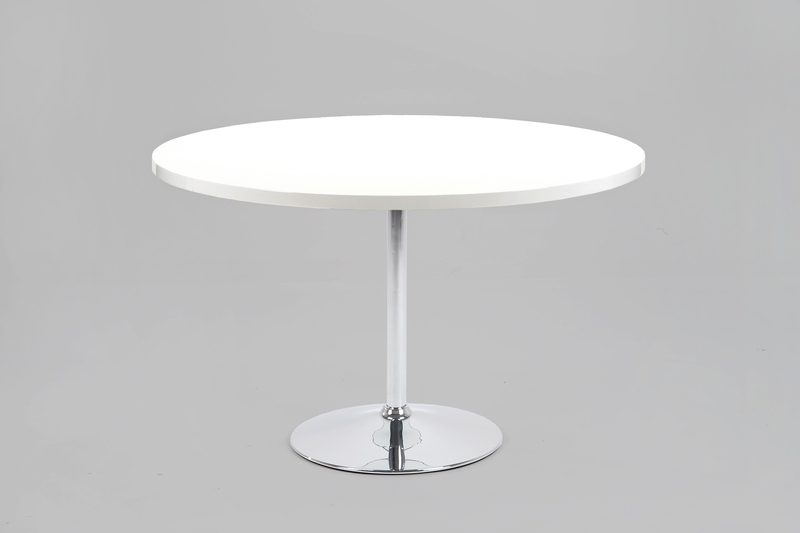 White Gloss Dining Tables 120Cm Inside Well Known Becky Round White High Gloss Dining Table 120Cm (Discontinued (View 13 of 20)