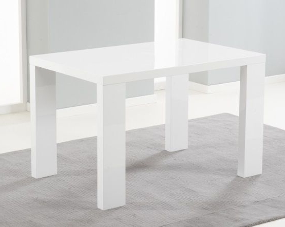 White Gloss Dining Tables 120Cm Intended For Most Recently Released Metz 120Cm White High Gloss Dining Table (View 14 of 20)