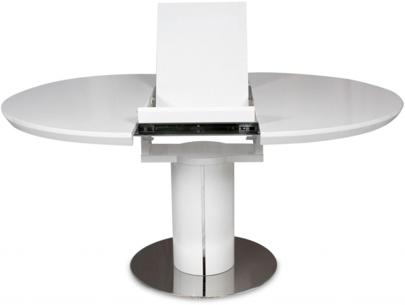 White Gloss Dining Tables 120Cm Pertaining To Trendy Buy Romeo White High Gloss Dining Table – 120Cm 160Cm Round (View 15 of 20)