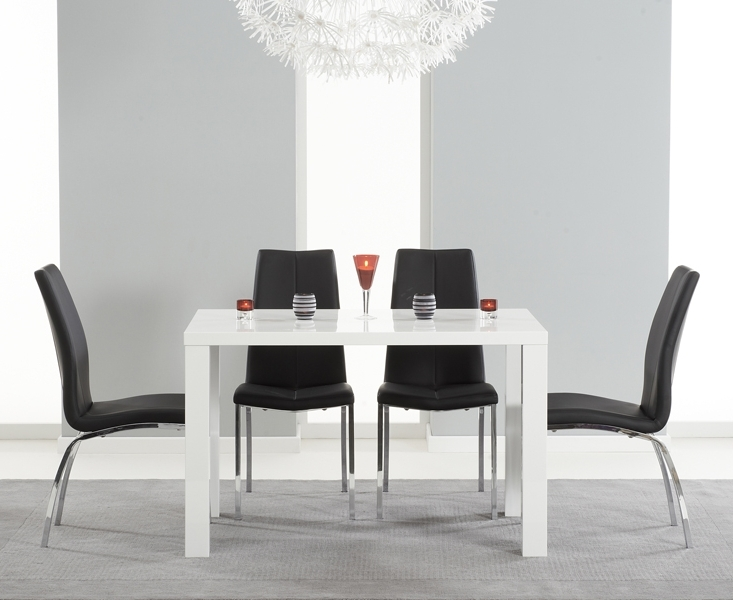 White Gloss Dining Tables 120Cm Within Most Recently Released Atlanta 120Cm White High Gloss Dining Table With Cavello Chairs (View 20 of 20)