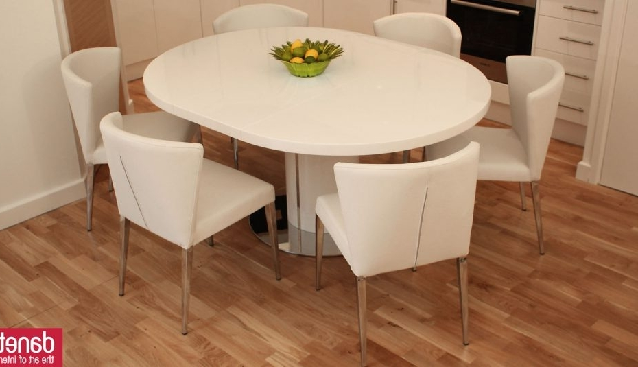 White Gloss Dining Tables 140Cm Intended For Current Bianca White Dining Chairs Extending Gloss Cool And Table Glass Set (View 17 of 20)